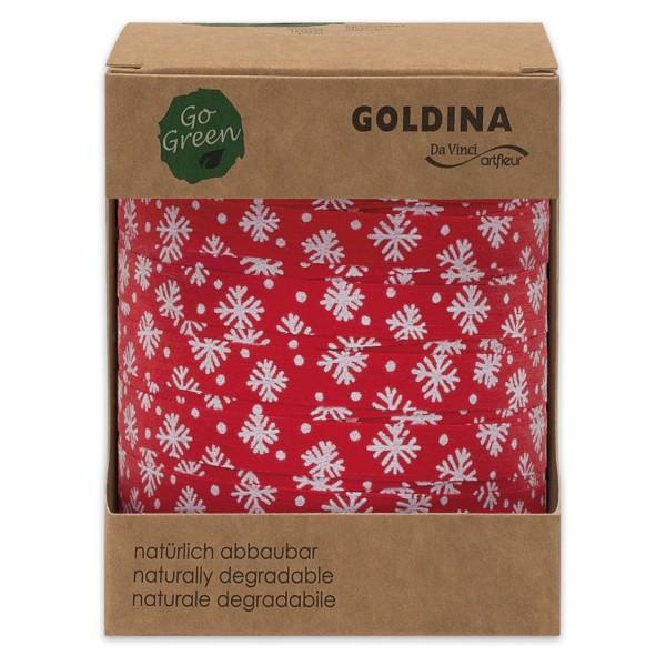 Ringelband für Weihnachten aus Baumwolle.