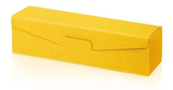 Präsentverpackung offene Welle Gelb
