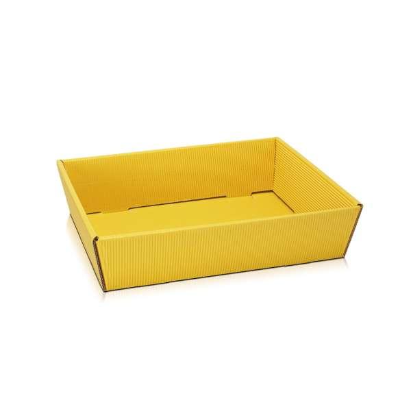 "Präsentkorb flach ""Gelb"" aus Karton"