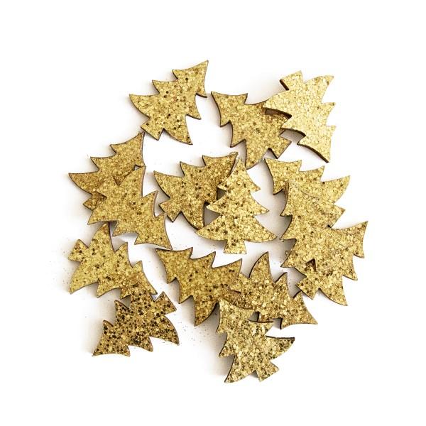 Deko-Tannenbaum Glitter Gold, 36er Set