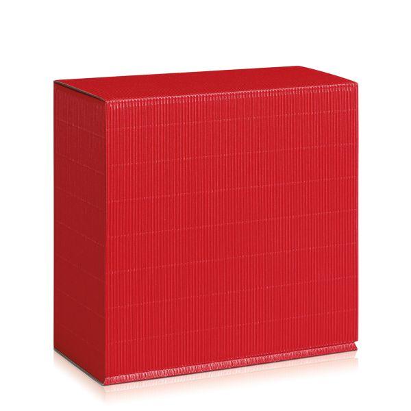 Geschenkbox in Rot.