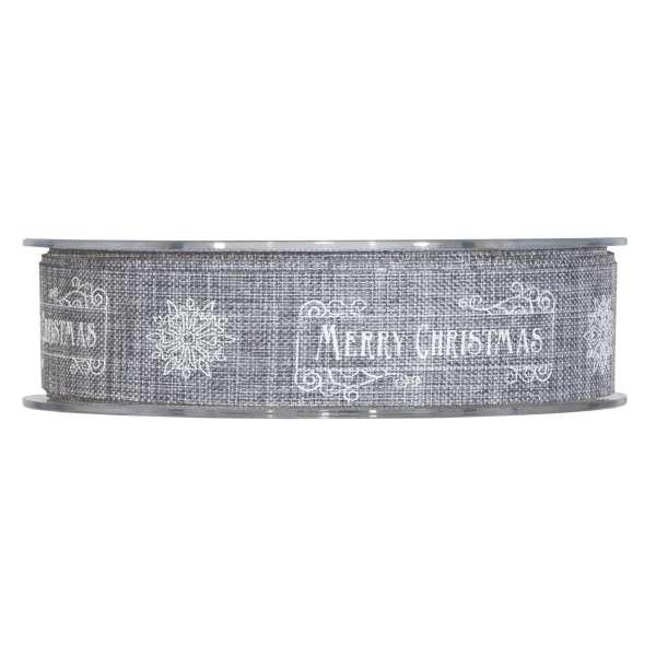 """Geschenkband """"Merry Christmas"""" Stone"""