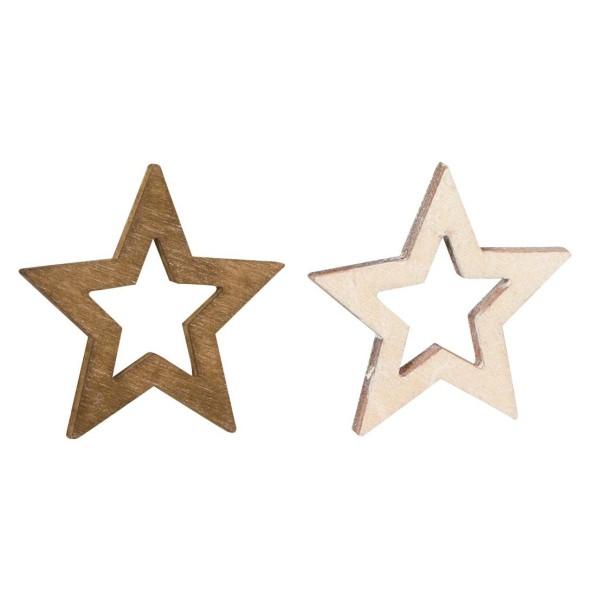 Deko-Sterne aus Holz im Set