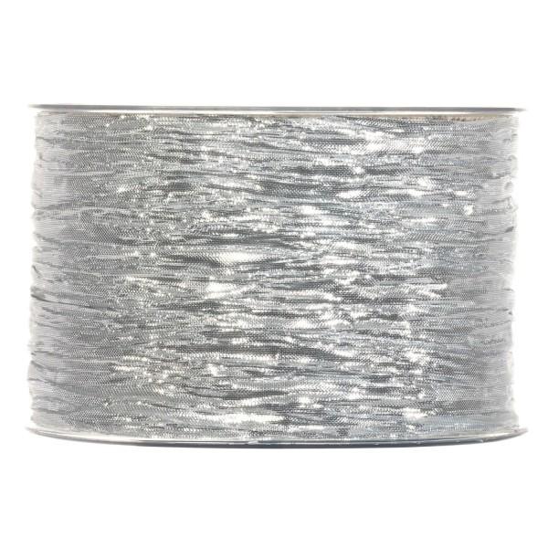 """Geschenkband """"Crashband Metallic"""" Silber"""