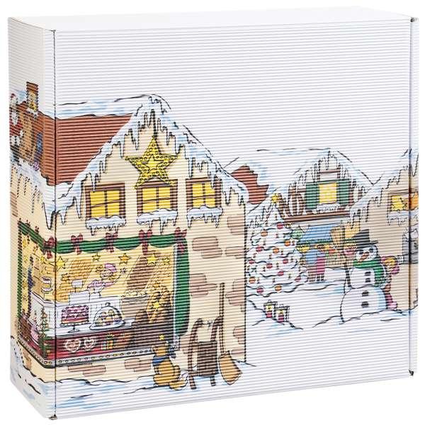"""Geschenkbox """"Weihnachtsdorf"""" groß"""