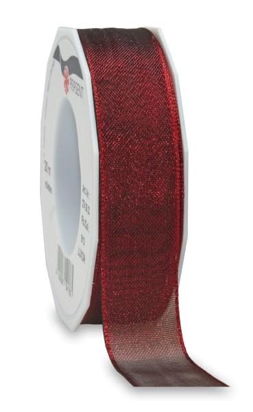 Geschenkband in Bordeaux glänzend 25 mm