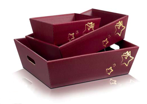 "Präsentkorb ""Weihnachtsstern"" aus Karton"