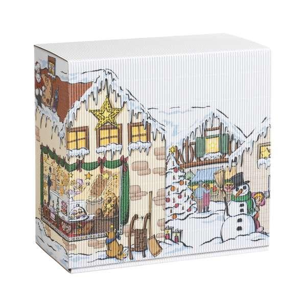 """Geschenkbox """"Weihnachtsdorf"""" mittel"""