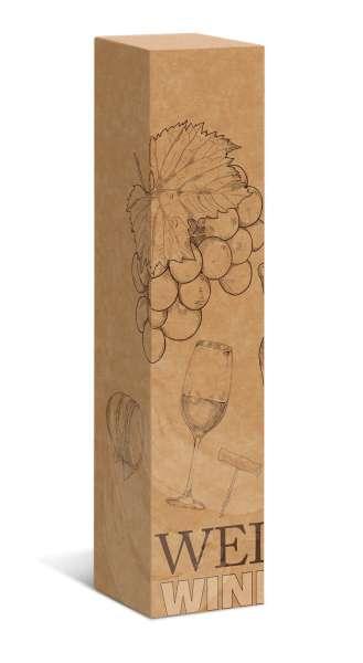 "Geschenkverpackung Faltschachtel ""Wein Natur"""