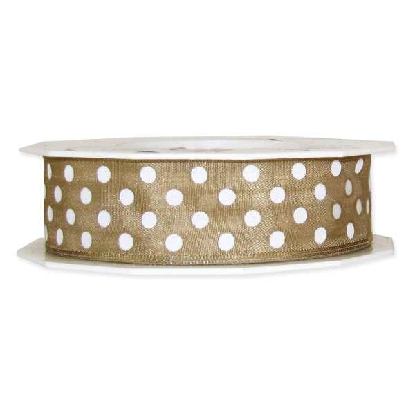 """Geschenkband """"Dots"""" 25mm breit"""