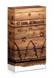 "Präsentverpackung ""Merry Christmas Holz"""