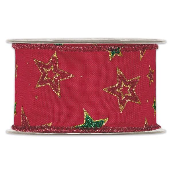 """Geschenkband """"Weihnachtssterne"""" 63 mm breit"""