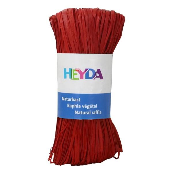 "Heyda Naturbast ""Raphia"", 50g Rot"