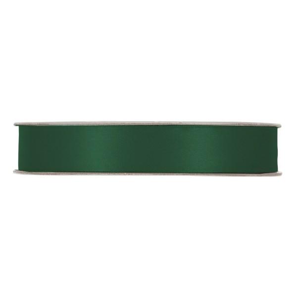 Satinband in Grün/Kiefer, 15 mm breit.