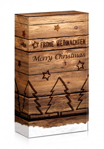 "Präsentverpackung ""Merry Christmas Holz"""