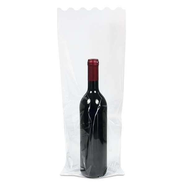 Folienbeutel transparent für 1 Flasche