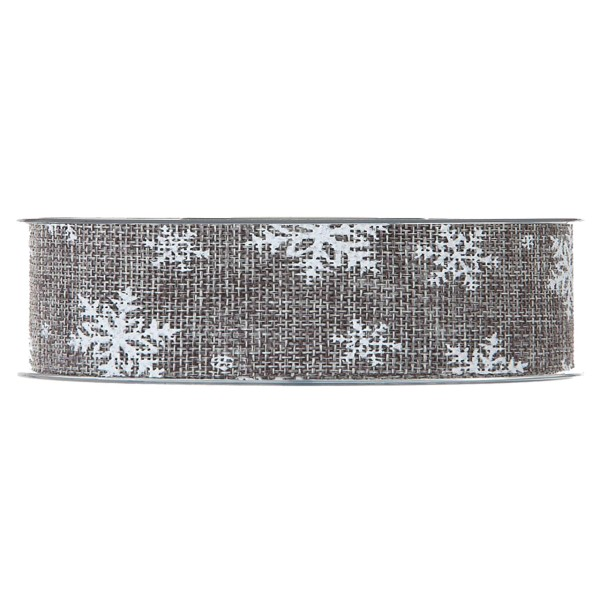 """Geschenkband """"Leinen Schnee"""" Grau"""