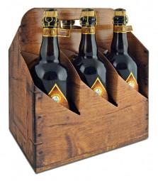 """Tragekarton """"Holz"""" für 6 Flaschen"""