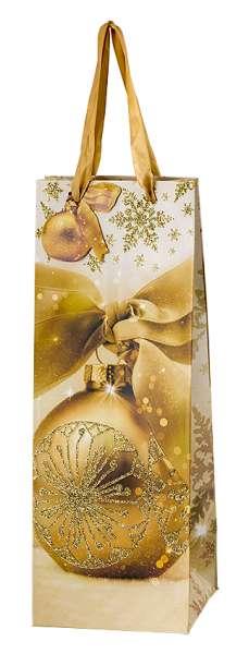 """Tragetasche """"Weihnachtsglanz"""" für 1 Flasche"""