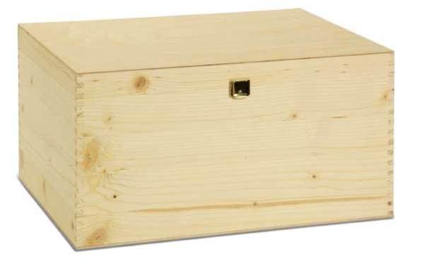 6er Holzkiste mit Klappdeckel