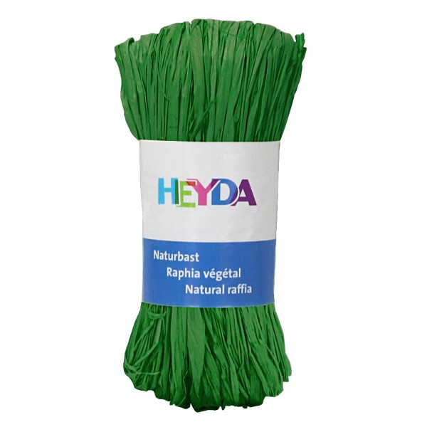 "Heyda Naturbast ""Raphia"", 50g Apfelgrün"