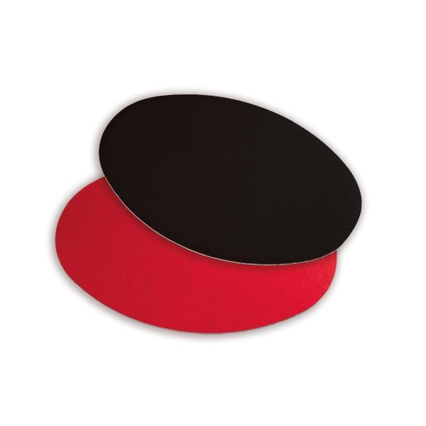 Dekoplatten in Schwarz/Rot