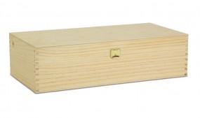 2er Holzkiste mit Klappdeckel