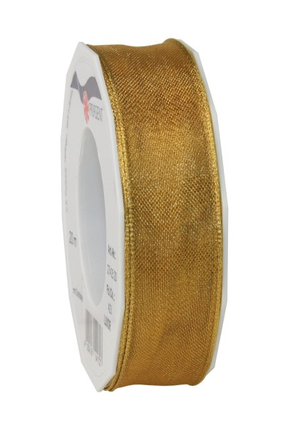 Geschenkband in Gold glänzend 25 mm