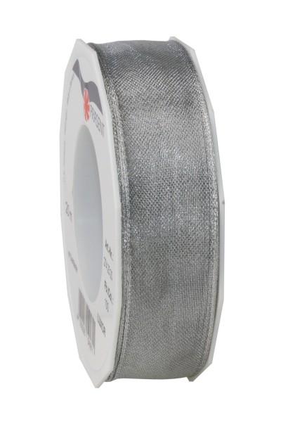 Geschenkband in Silber glänzend 25 mm
