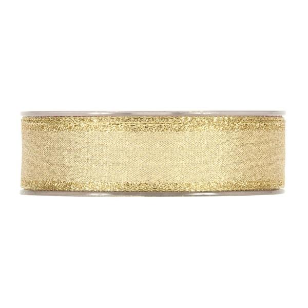 Festliches Geschenkband in Gold mit Bordüre