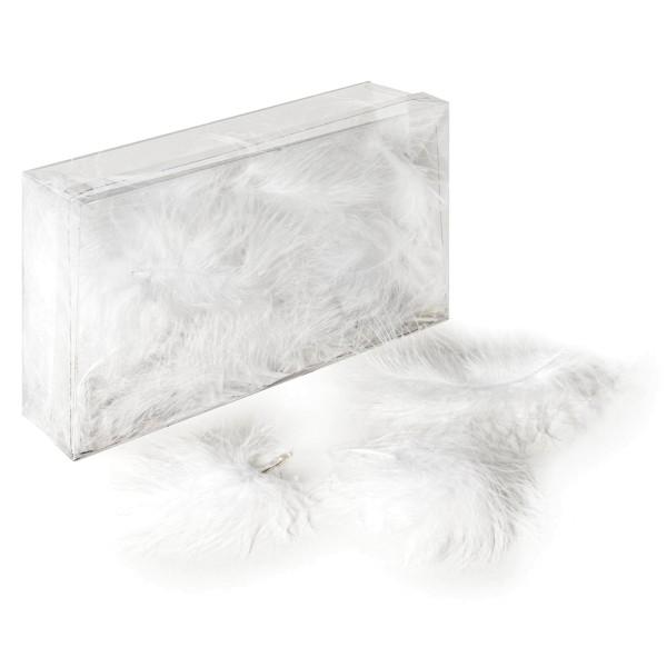 Deko-Marabu-Federn in Weiß
