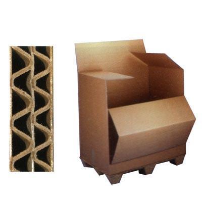 Palettencontainer, Speditionsbehälter aus Wellpappe, zweiwellig