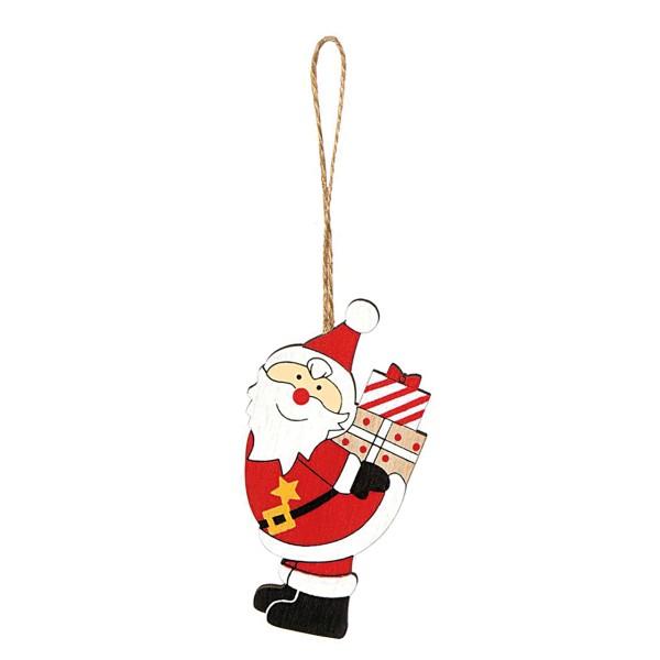 Flaschenanhänger für Weihnachten mit Weihnachtsmann.