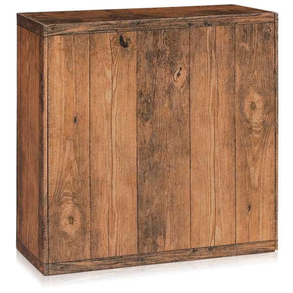 Große Geschenkbox in Holzoptik.