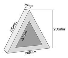Geschenkverpackung Dreieck mit Fenster