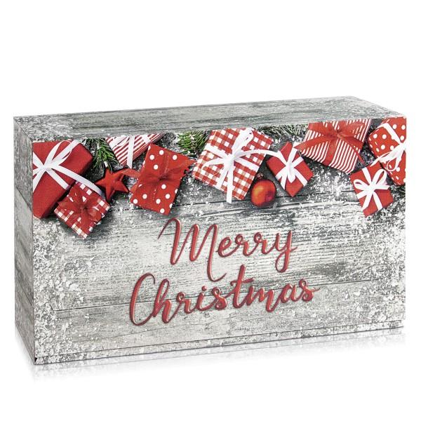 """Geschenkverpackung 2er Weinkarton """"Merry Christmas"""""""