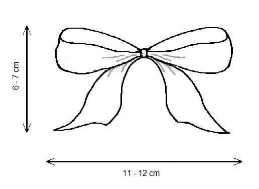 Geschenkbandschleife 15 mm