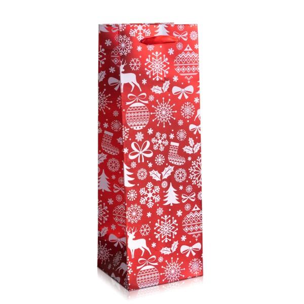 Tragetasche für Flaschen zu Weihnachten