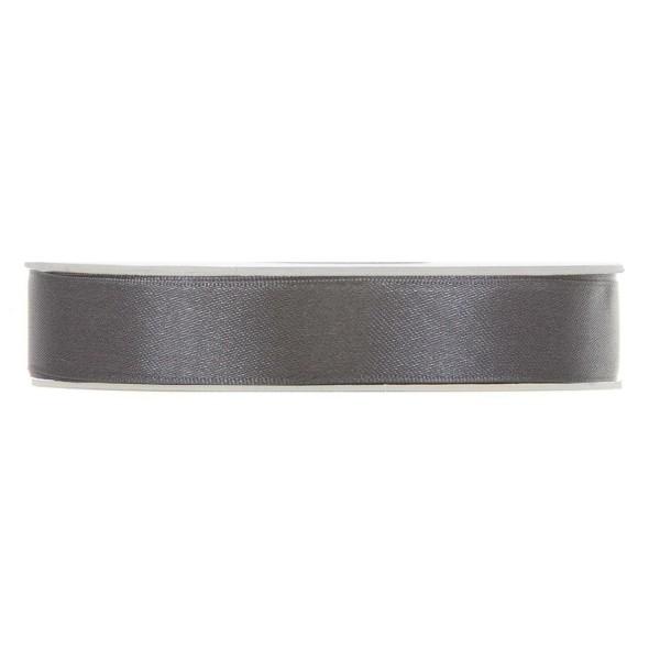 Satinband in Anthrazit, 15 mm breit.