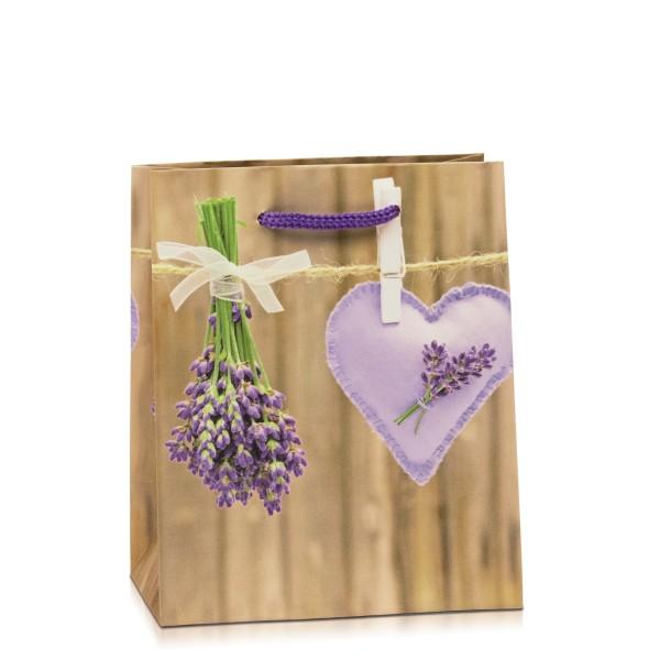 """Geschenktasche """"Lavendelherz"""""""