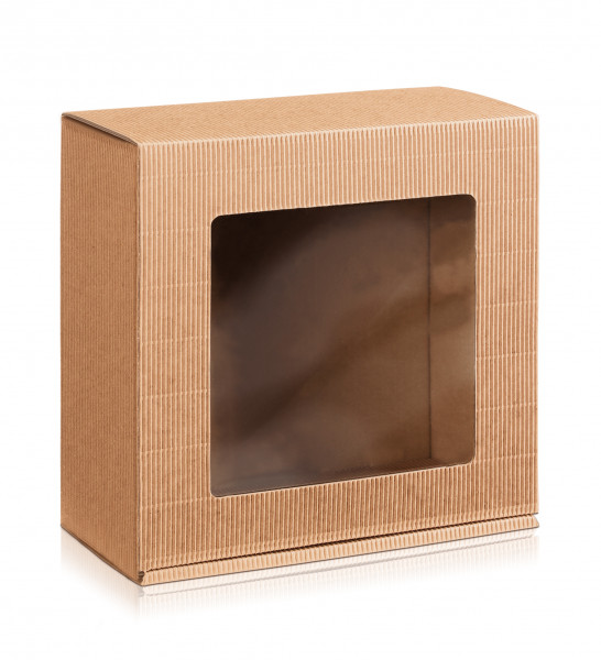 """Geschenkbox offene Welle """"Natura"""" mit Sichtfenster"""