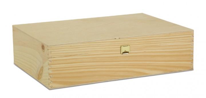 3er holzkiste mit klappdeckel holzkisten weinverpackungen gabriel verpackungsshop. Black Bedroom Furniture Sets. Home Design Ideas