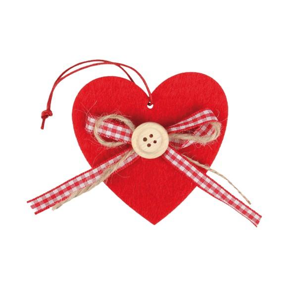 Deko-Anhänger Filzherz für Muttertag und Valentinstag