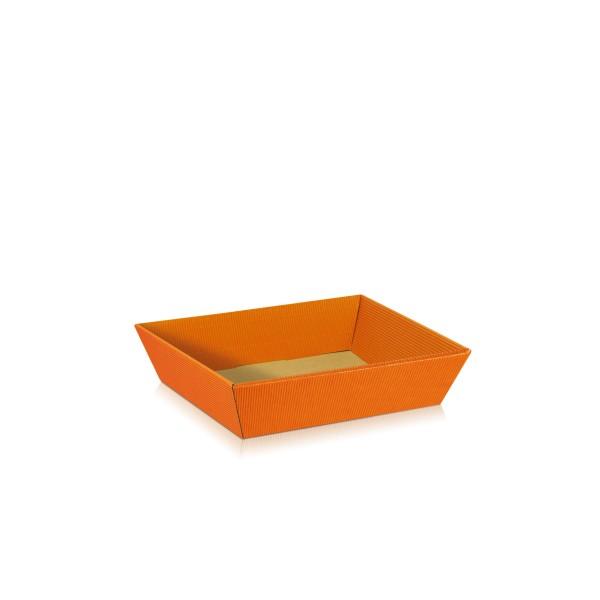 """Präsentkorb """"Orange"""" flach"""