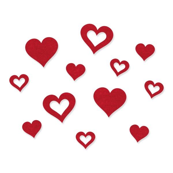 Deko-Herzen aus Filz