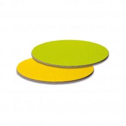 Dekoplatten in Limette/Gelb