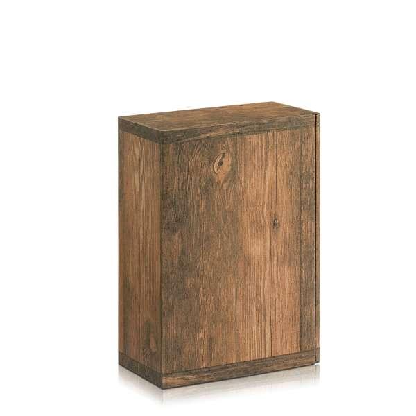 Kleine Geschenkbox in trendiger Holzoptik.