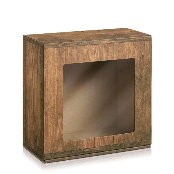 """Geschenkbox """"Vintage"""" mit Sichtfenster"""